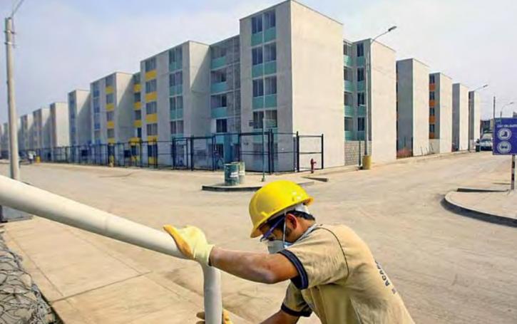 Crece el sector de la construcción en Perú un 11.9 %