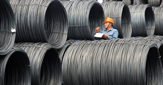 A la alza el acero chino en el mercado