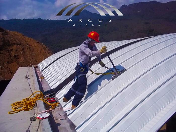 terceteo de arcotechos o techo autoportante