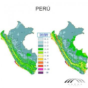 Mapa eólico Peru de arcus global