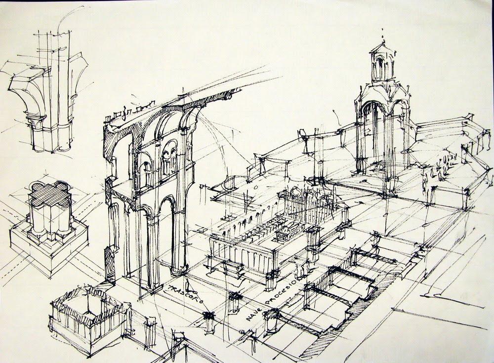 Dibujo arquitect nico arcus global - Que es un porche en arquitectura ...