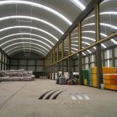 Arcotechos o techos para almacenes