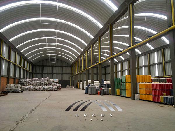 Arcotechos o techos autoportantes para almacenes