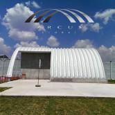 Arcotechos o techos autosoportantes para centros deportivos
