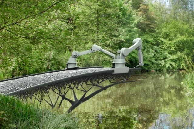 Puente construido en impresora 3D