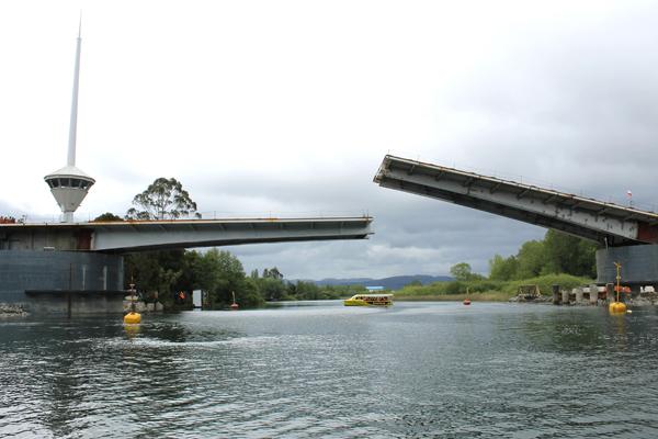 Avances del Puente Cau Cau