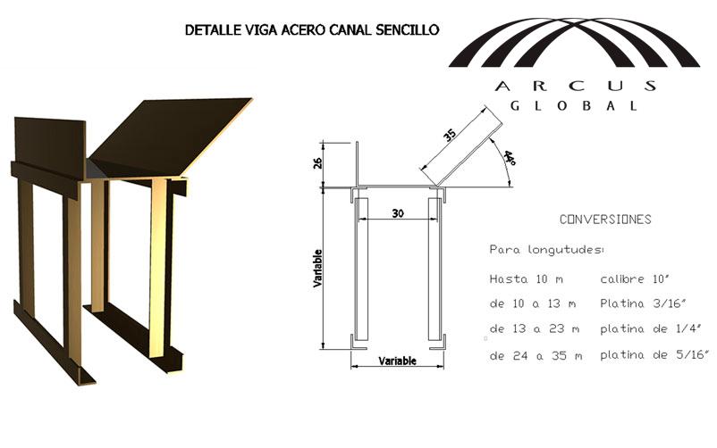 Detalles de cubiertas perfil y vigas arcus global - Tipos de vigas de acero ...