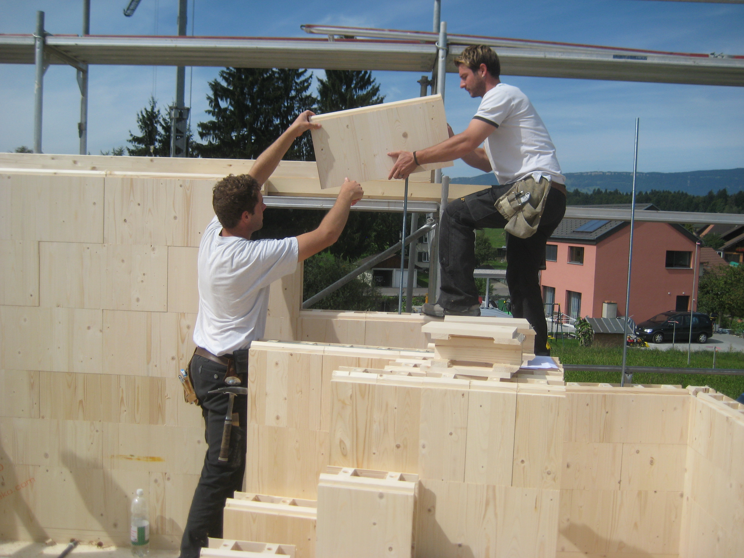 Sistema modular de bloques de madera
