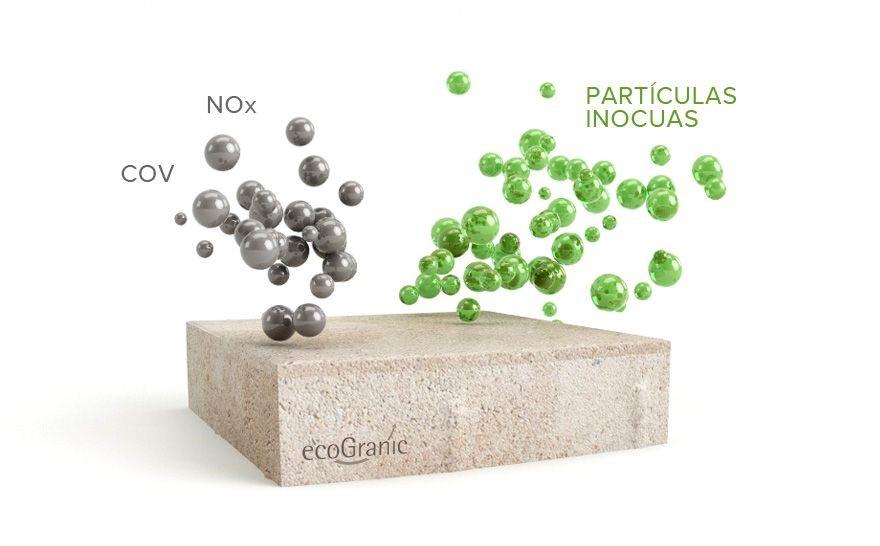 ecoGranic, pavimento que limpia el aire