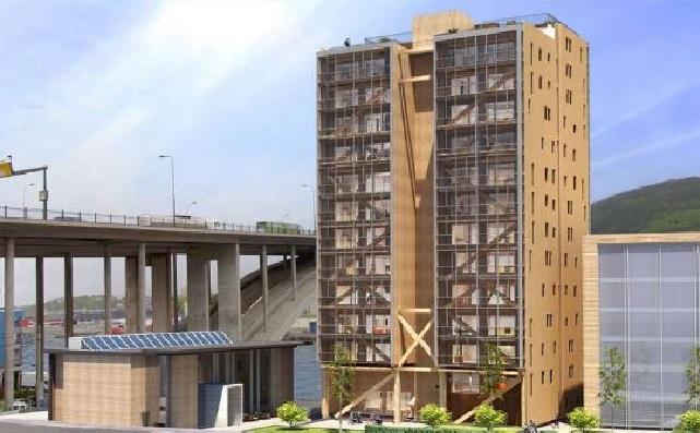 Termina construcción del edificio de madera más alto del mundo