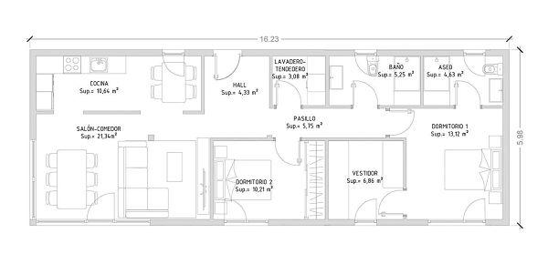 Plano de casas modulares