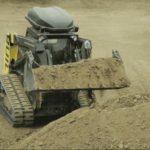 bulldozer autónomo para excavar