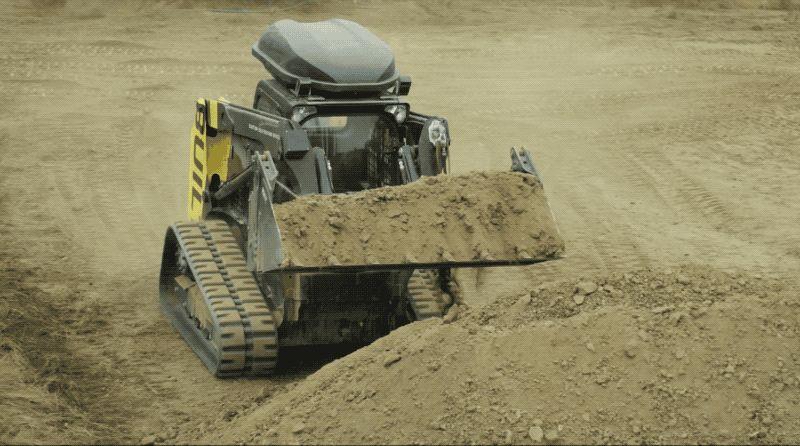 Excavadora autónoma y sin operador
