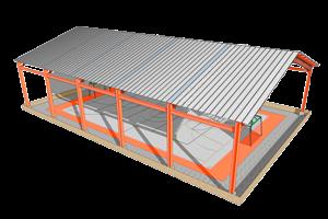 techo plano, cubierta plana