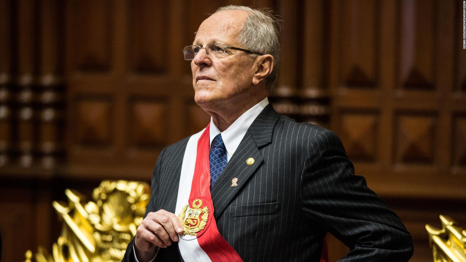 El presidente de Perú renuncia por caso Odebrecht
