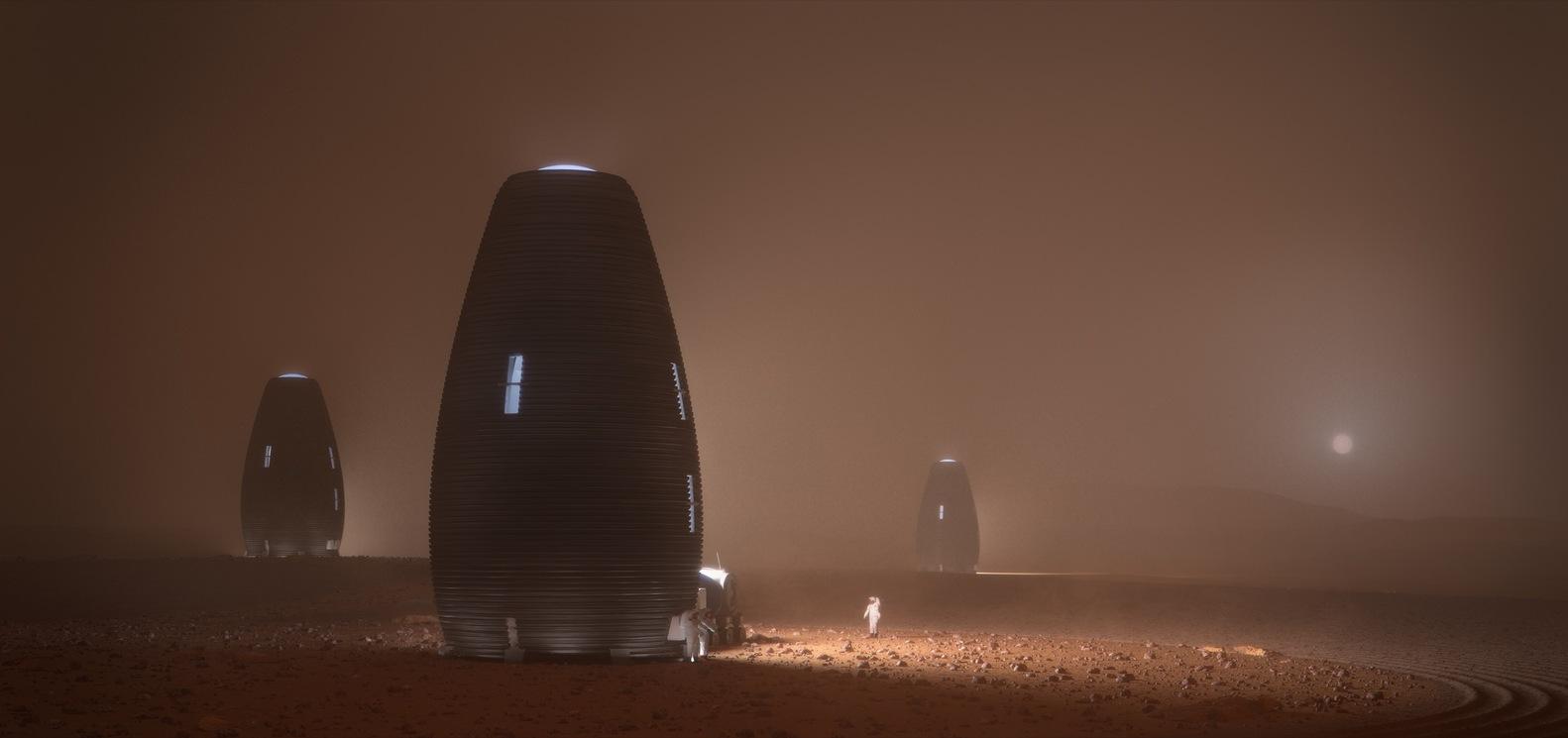Cápsulas impresas en 3D para astronautas en Marte