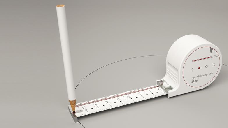 Un flexómetro que mide y dibuja