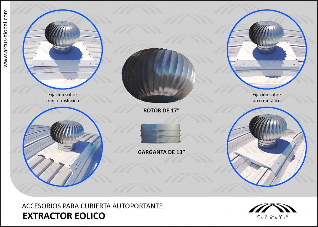 Ficha técnica: Extractor eolico