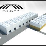 arcotechos para parques industriales