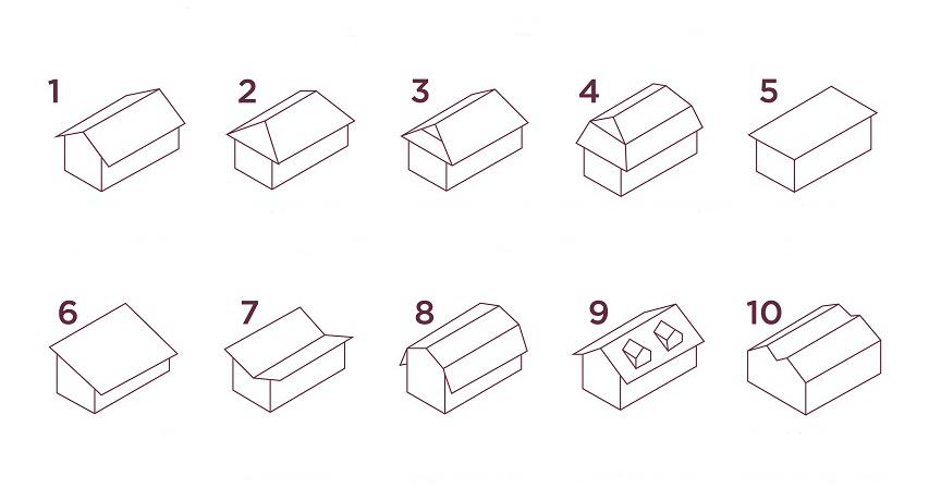 Tipos de techos planos y de pizarra